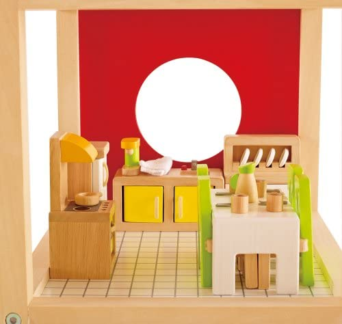 toys, games, dolls, accessories, dollhouse accessories,  furniture 4 on sale Hape Wooden Doll House Furniture Dining Room Set promotion