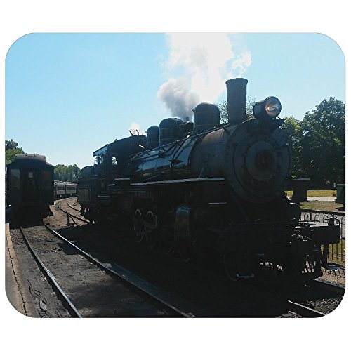 (Steam Train at station Photo Mouse Pad)