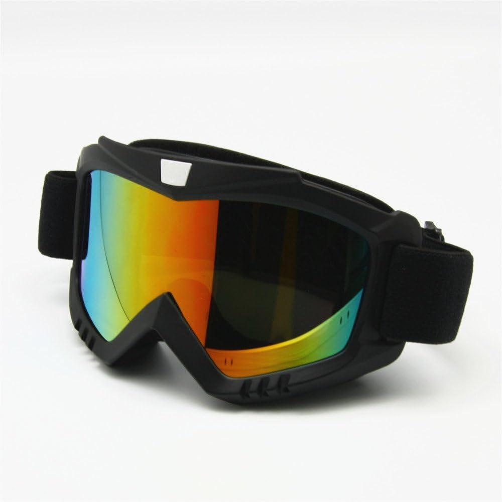EnzoDate Motorrad Dirt Bike ATV Schutzbrille Maske Abnehmbare Style Sch/ützen Polsterung Helm Sonnenbrille Rennrad UV Motorrad Brille