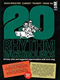 img - for 20 Rhythm Backgrounds to Easy Solos and Improvisations: Music Minus One Clarinet/Trumpet/tenor Sax Deluxe book / textbook / text book
