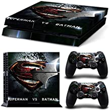 Superman VS Batman Skin Sticker Cover Set for PS4 Playstation 4 Console Controller