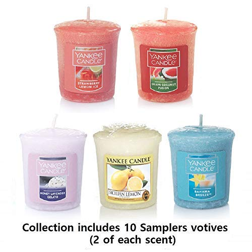 Yankee Candle Samplers Votive Candles:  Sweet, Tropical & Fruity Collection - Set of 10 Votives