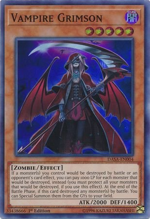 Vampire Grimson - DASA-EN004 - Super Rare - 1st Edition (Top 10 Best Yugioh Decks)