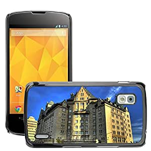 Hot Style Cell Phone PC Hard Case Cover // M00169492 Edmonton Canada Building Hotel City // LG Nexus 4 E960