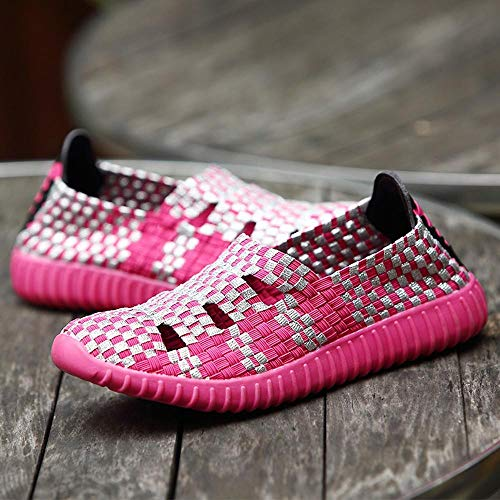 Mujer Mujer Zapatos Logobeing Deportivas Running Deportivos Mujer Rosa con Seguridad Mujer Comodos Botines Plataforma Zapatillas 8EEwrqv