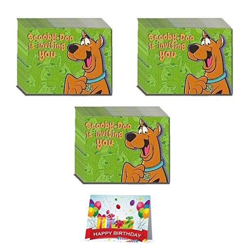 Scooby Doo Birthday Party Invitations Bundle Pack of (Scooby Doo Party Invitations)