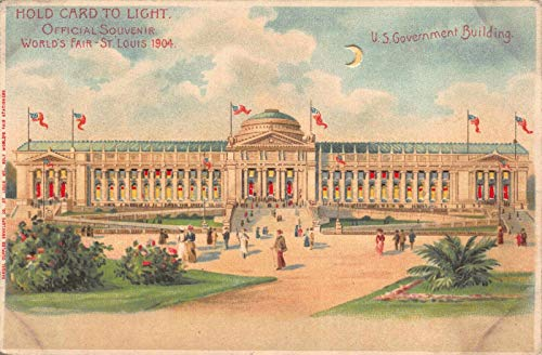 - Hold-To-Light Postcard U.S. Government Building World's Fair St. Louis MO~122089