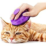 Cat Brush with Extra Soft Silicone Pins – Grooming & Shedding Massage Brush for Short & Long Hair