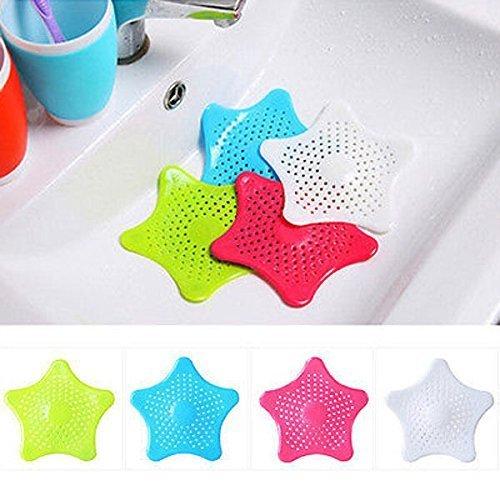 BeautyLifeⓇ cucina Cattura capelli per scarico vasca da bagno tappo lavandino colino filtro doccia 16/cm bianco colore