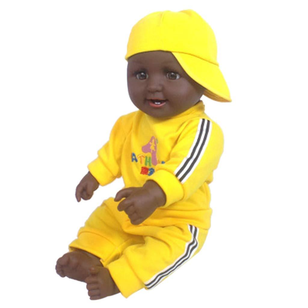 HuaMore Cadeau de Jouet Nouveau-né Fille 50 cm Simulation de bébé Poupée Douce Les Enfants renaissent Poupée Cadeau Jouet Nouveau-né