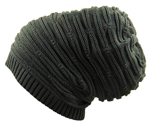 RW Rasta Stretch Long Beanie Hats (Olive Green)