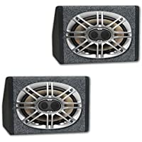 Polk Audio DB691 6x9 3-Way Marine Audio Coaxial Speakers with Speaker Boxes