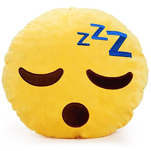 Sleeping Emoji Pillow Yellow Emoticon product image