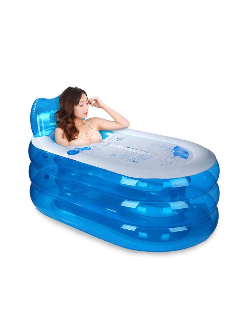 PIPIXIA Bewegliche Faltbare aufblasbare Badewanne PVCs freistehende Badewanne mit elektrischer Luftpumpe