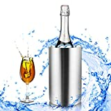Homdox Stainless Steel Ice Buckets Double Wall Wine Bucket