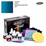 SUZUKI ALTO / PARADISE BLUE MET - ZKY / COLOR N DRIVE TOUCH UP PAINT SYSTEM FOR PAINT CHIPS AND SCRATCHES / BASIC PACK