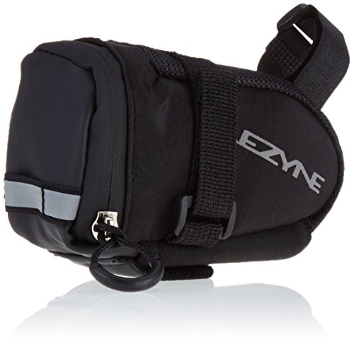 (LEZYNE Twin Drive Co2 Bicycle Tire Inflation System with Caddy Saddle Bag/Tool Kit, Black)