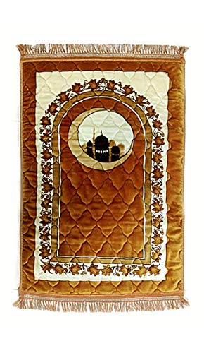 Muslim Thick Prayer Rug – Plush Cushion Prayer mat – sajjadah – Carpet Janamaz Mat – Prayer Rug