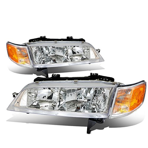 DNA MOTORING HL-OH-037-CH-AM Headlight Assembly Driver And Passenger Side