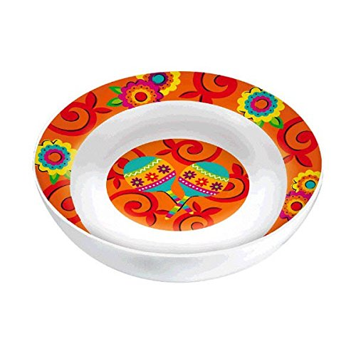 - amscan Multicolored Round Melamine Party Bowl