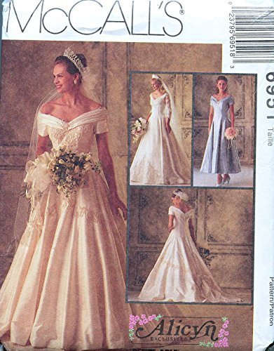 Bridesmaid Patterns Mccalls - McCall's 6951 Misses' Bridal Gowns and Bridesmaids' Dress Alicyn Sewing Pattern Size 12 Bust 34