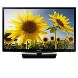 "Black Samsung 24"" 4000 Series-HD LED TV-1080p 60Hz, AC 120 V"