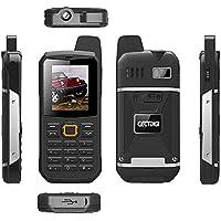 CECTDIGI F8 Dual Sim Unlocked Cell Phone PTT Walkie Talkie Phone 3000mah Battery Power Bank Waterproof IP67 Rugged Phone (Black)