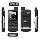 CECTDIGI F8 Dual Sim Unlocked Cell Phone PTT Walkie Talkie Phone 3000mah Battery Power Bank Waterproof IP67 Rugged Phone (Black)