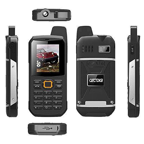 Cectdigi F8 Walkie Talkie Dual Sim Card Phone with Power Bank Charging Function,3000mAh Large Battery Capacity Rugged Phone (Black, No TF Card)