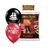 """Qualatex 12"""" Round Latex Balloons Officially Licensed Pirates Of The Carribean, 6-Count"""