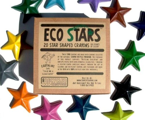 Crazy Crayons Eco Stars (100% Recycled (Star Crayons)