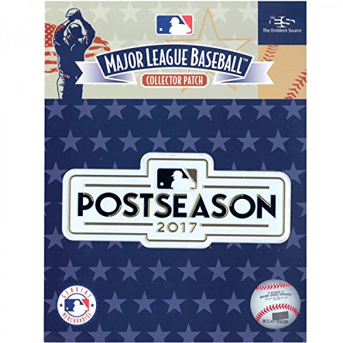 Official Licensed 2017 MLB Post Season Baseball Jersey Patch Yankees Cubs Dodgers (Mlb Post)