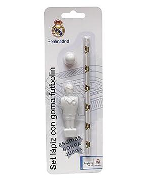 REAL MADRID CF® Set Futbolín (Goma Pelota+Goma Jugador+Lápiz ...