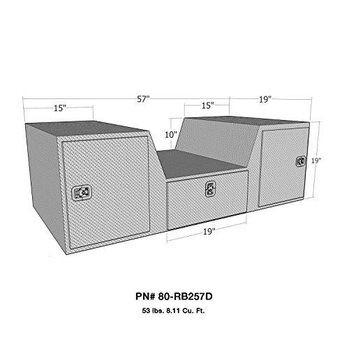 Brute 80-RB257D Pro Series Caja de herramientas para portón trasero, de aluminio pulido, con forma de V, con cuello de...