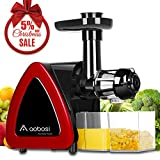 Aobosi Slow Masticating juicer Extractor, Cold Press Juicer Machine, Quiet Motor, Reverse Function