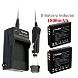 Kastar Battery (2-Pack) and Charger Kit for Fujifilm NP-70, Panasonic Lumix CGA-S005, DMW-BCC12, DE-A12 work with Fuji FinePix F20, F20 Zoom, F40fd, F45fd, F47fd and Panasonic Lumix DMC-FS2, DMC-FX1, DMC-FX3, DMC-FX7, DMC-FX8, DMC-FX9, DMC-FX10(FX10GK), DMC-FX12, DMC-FX50, DMC-FX100, DMC-FX150, DMC-FX180, DMC-LX1, DMC-LX2, DMC-LX3, Leica D-LUX3, Leica C-LUX 1, Leica D-LUX2, Ricoh Caplio R3, Ricoh Caplio GR Cameras