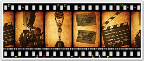 JP London PAN5229 uStrip Vintage Movie Clip Hollywood Oscars High Resolution Peel Stick Removable Wallpaper Sticker Mural, 48'' Wide by 19.75'' High by JP London