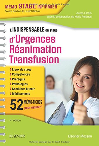L'indispensable En Stage D'urgences-ranimation-transfusion Reliure  Spirales (French Edition)