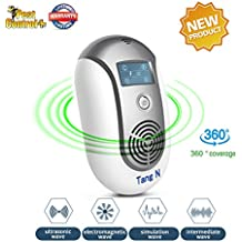 Ultrasonic Electromagnetic Pest Repellent Electronic Control Smart bug Repeller Plug in Home Indoor and Outdoor Warehouse Get Rid of Mosquito,rats,squirrel,Flea,Roaches,Rodent,Insect[2018 New product]
