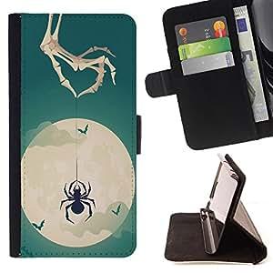 - Spider - - Monedero PU titular de la tarjeta de cr?dito de cuero cubierta de la caja de la bolsa FOR LG OPTIMUS L90 Retro Candy