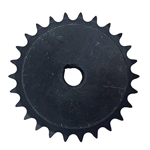 Hub 0.75 - KOVPT # 40 Chain Roller Sprocket 30 Teeth Bore 0.75 Inch B Hub Type Pitch 0.5 Inch Carbon Steel Black