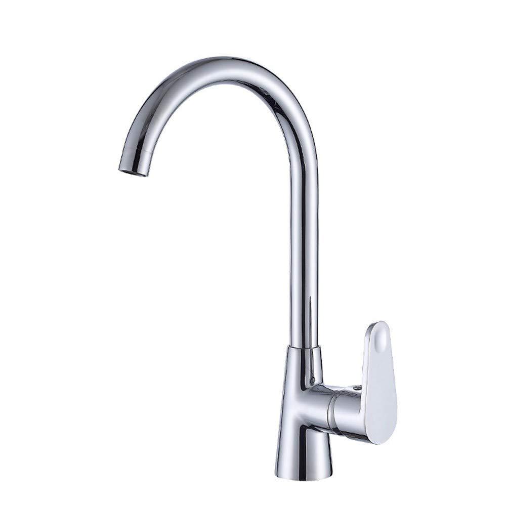 KASDML.CO Wasserhahn Raffiniertes Kupfer 360 Grad UmLäufende Küche Waschbecken Waschbecken Heißes Und Kaltes Wasser Mischventil Wasserhahn