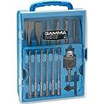 Kit de acessórios para martelete perfurador rompedor SDS plus, Gamma Ferramentas, G19533AC, Azul