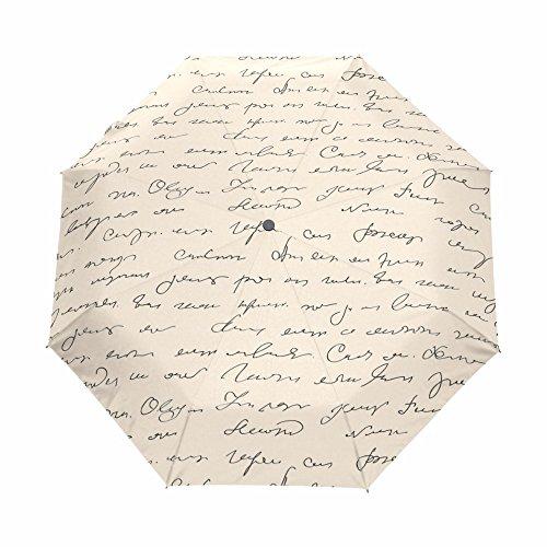 Folding Business Letter (LiFei Business Letter 3 Folding Sun Umbrella Travel Automatic Anti UV Advanced customization)