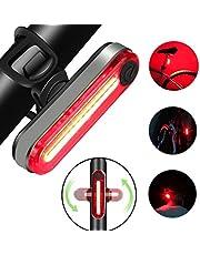 USB Luce per Bicicletta Ricaricabile, luci Anteriori potenti per Biciclette LED, IP65 Impermeabile con 4 modalità, Bici a LED per Bici da Strada e Montagna