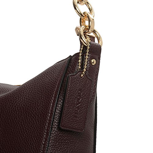 Hobo Chelsea Leather Polished Oxblood Womens Pebbled 32 COACH Li nIqwY44t