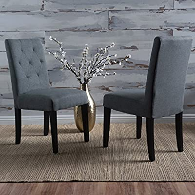 4691123073e3 Amazon.com - Christopher Knight Home 300318 Gentry Dining Chair (Set of 2) Dark  Grey - Chairs