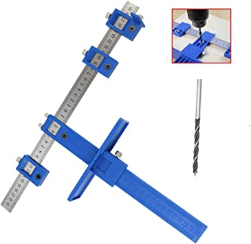 Doweling Templates Jig Tool for Door Drawer Handle Knobs Drill Punch Locator Curyu Cabinet Hardware Jig Adjustable Drill Guide
