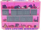 Roblox Carrying Case - Stores Dozens Of Figures- Durable Toy Storage Organizers By Life Made Better - Pink
