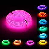10M EL Led Flexible Soft Tube Wire Neon Glow Car Rope Strip Light Xmas Decor DC 12V (Random: Color)